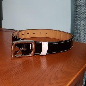 Black & white Lane Bryant belt
